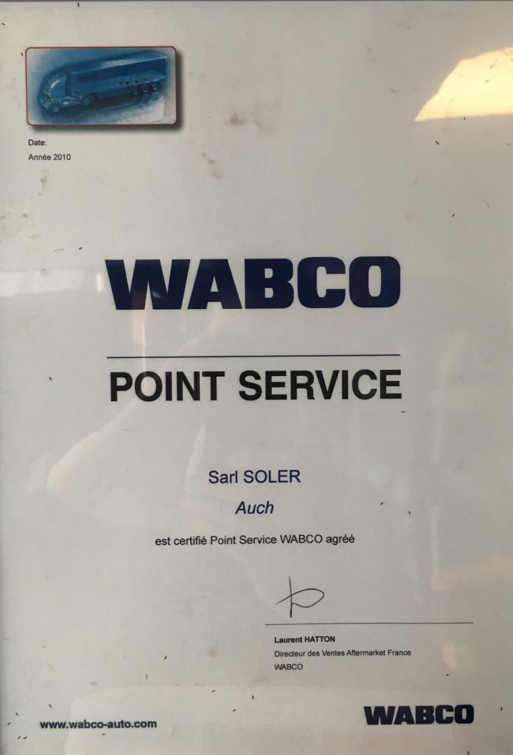 Le Garage Soler, Point Service WABCO
