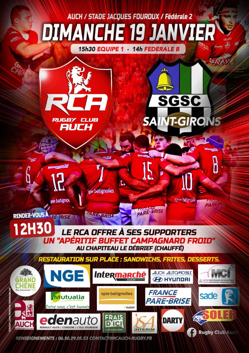 Rugby Club Auch VS Saint-Girons